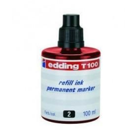 Tinta Edding T-100 100 ml rojo