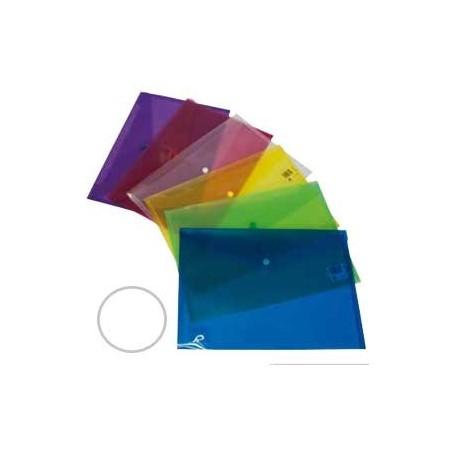 Sobre Polipropileno con cierre broche Dequa folio incoloro