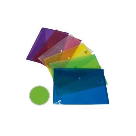 Sobre Polipropileno con cierre broche Dequa folio verde
