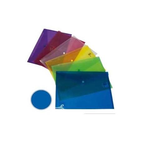 Sobre Polipropileno con cierre broche Dequa folio azul