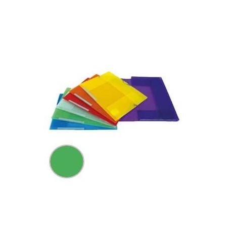 Carpeta 3 solapas Dequa Plástico translúcido verde