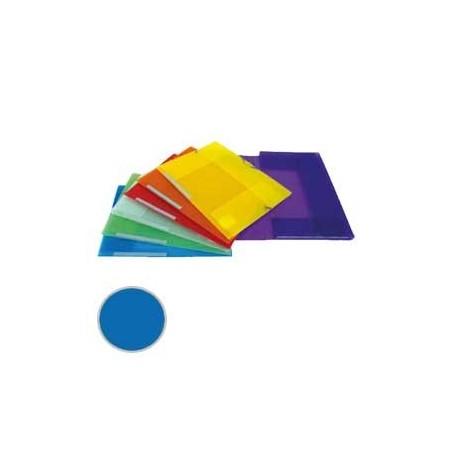 Carpeta 3 solapas Dequa Plástico translúcido azul