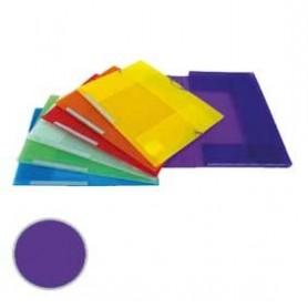 Carpeta 3 solapas Dequa Plástico translúcido violeta