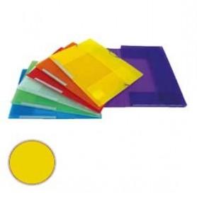 Carpeta 3 solapas Dequa Plástico translúcido amarilla