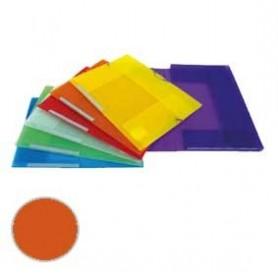 Carpeta 3 solapas Dequa Plástico translúcido naranja