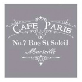 Plantilla Stencil 30,5x 30,5 cms Café Paris