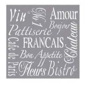 Plantilla Stencil 30,5x 30,5 cms Francia