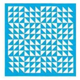Plantilla Stencil 30,5x 30,5 cm Patchwork triangular