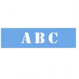 Kit plantillas Stencil Alfabeto 12,5 cm
