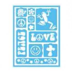 Plantilla Stencil adhesiva 15x20 cm Love