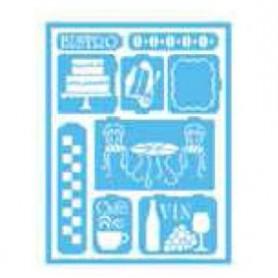 Plantilla Stencil adhesiva 15x20 cm Bistro