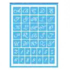 Plantilla Stencil adhesiva 15x20 cm ABC/Números