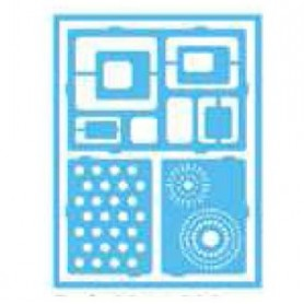 Plantilla Stencil adhesiva 15x20 cm Círculos/cuadrados