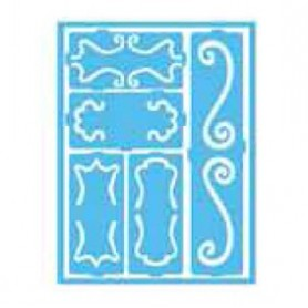 Plantilla Stencil adhesiva 15x20 cm Bordes decorados