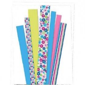 Tiras de papel Flower Garden pink