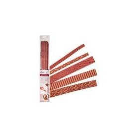 Tiras de papel Crafty Color Rojo