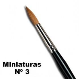 Pincel W&N serie 7 miniaturas Nº 3