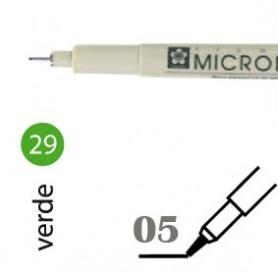 Rotulador Pigma Micron 05 Verde