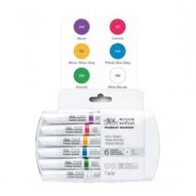 Winsor & Newton Pigment marker Set 6 tonos intensos