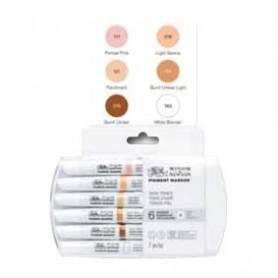 Winsor & Newton Pigment marker Set 6 tonos piel