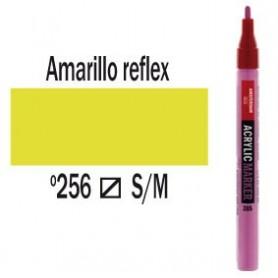 Rotulador acrílico Amsterdam punta S Amarillo Reflex