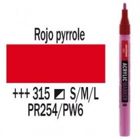 Rotulador acrílico Amsterdam punta S Rojo Pyrrole