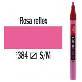 Rotulador acrílico Amsterdam punta S Rosa Reflex