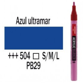 Rotulador acrílico Amsterdam punta S Azul ultramar