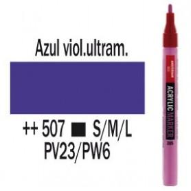 Rotulador acrílico Amsterdam punta S Azul ultravioleta