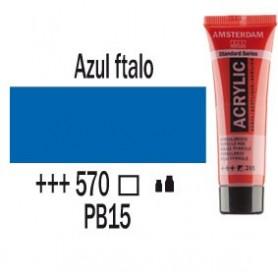 Acrílico Amsterdam 570 20 ml Azul Ftalo