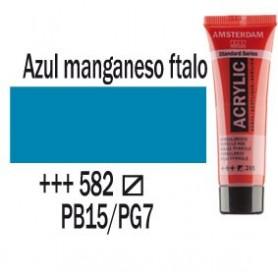 Acrílico Amsterdam 582 20 ml Azul manganeso claro