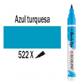 Ecoline Brushpen Azul turquesa