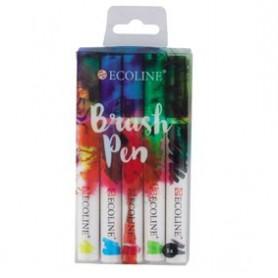Ecoline Brushpen Set 5 colores