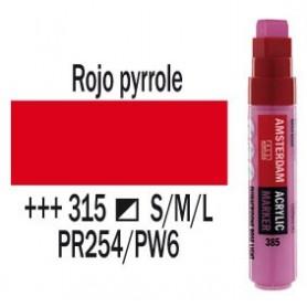 Rotulador acrílico Amsterdam punta L Rojo Pyrrole