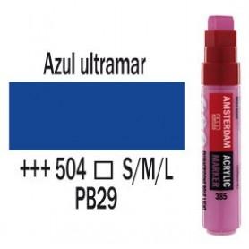 Rotulador Acrílico Punta L Azul Ultramar Amsterdam