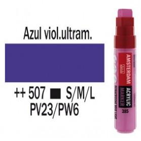 Rotulador acrílico Amsterdam punta L Azul ultramar violeta