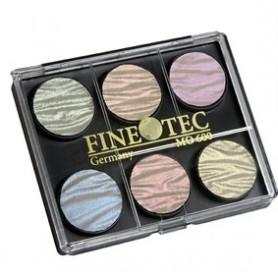 Caja Acuarela Finetec 6 colores morée 23 mm