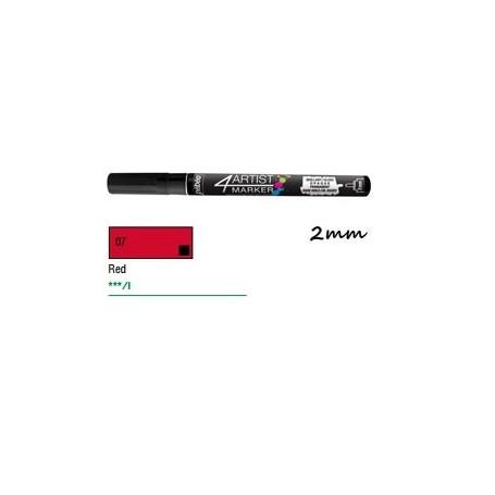 Marcador Pebeo 4ARTIST 2 mm Rojo