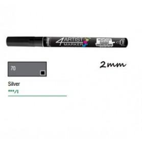 Marcador Pebeo 4ARTIST 2 mm Plata