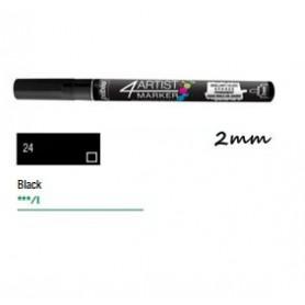 Marcador Pebeo 4ARTIST 2 mm Negro