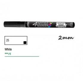 Marcador Pebeo 4ARTIST 2 mm Blanco
