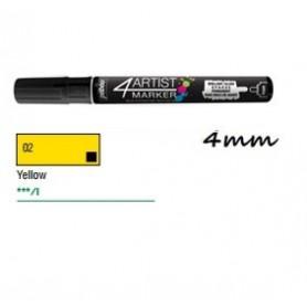 Marcador Pebeo 4ARTIST 4 mm Amarillo