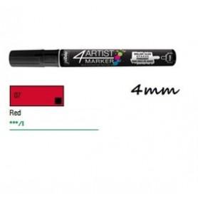 Marcador Pebeo 4ARTIST 4 mm Rojo