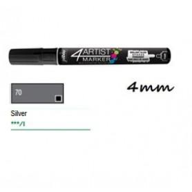 Marcador Pebeo 4ARTIST 4 mm Plata