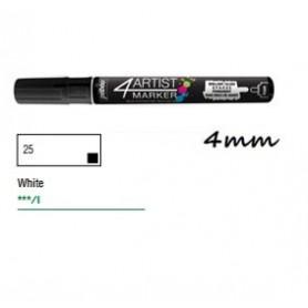 Marcador Pebeo 4ARTIST 4 mm Blanco