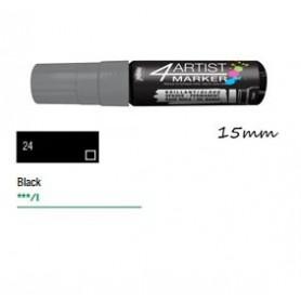 Marcador Pebeo 4ARTIST 15 mm Negro
