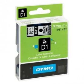 Cinta D1 9 mm Dymo negro sobre transparente