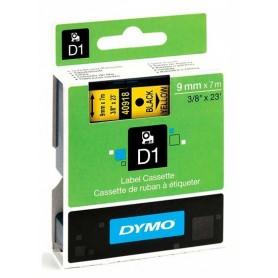 Cinta D1 9 mm Dymo negro sobre amarillo