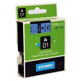 Cinta D1 9 mm Dymo negro sobre azul