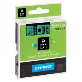 Cinta D1 9 mm Dymo negro sobre verde